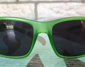 Suncloud green wayfarer style sunglasses