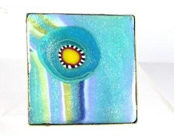 Square ring 2.6 cm: spring blue