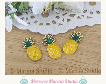 2 metal 23x12mm n74293 pineapple charms