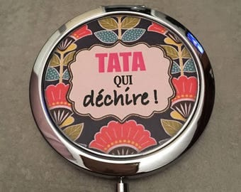 Aunty / Auntie tearing - Pocket mirror - 77mm x 70mm