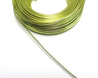 Aluminum wire Green 2 mm leather sold cut