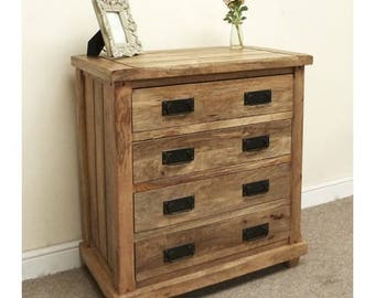 Baku mango wood 4 drawer chest