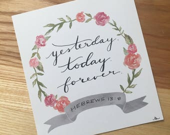 Forever - Hand Lettered Drawing