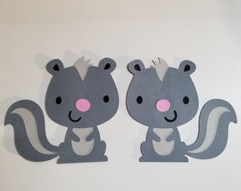 Woodland Skunk Cutouts