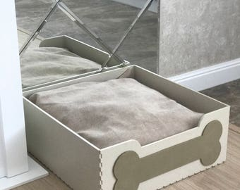 incredibly   stylish bed for your lovely pet from natural materials