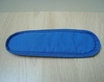 Blue shoulder pad for sports bag
