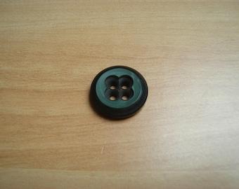 fancy black button plastic clover decoration
