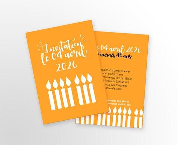 Bien connu Carte d'invitation anniversaire A personnaliser Modèle SN18