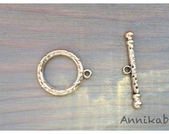 5 large round toggle clasps 26 x 21 mm