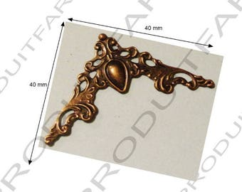 20 corners Protection chiseled Bronze to protect book box project Cartonnage free shipping