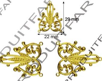 6 decorative brass box to box jewelry drawer Clouer 29 x 22 mm