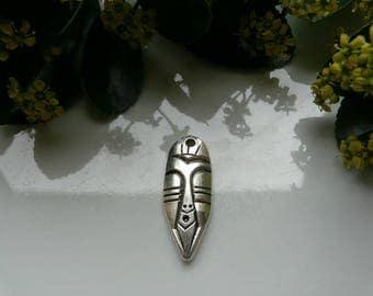 Silver Aztec pendant 40 * 15mm