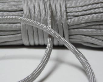 Paracord 550 rope grey 4 mm 7 strand by the yard