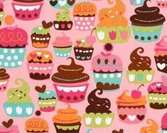 Pink cupcake Miller patchwork fabric