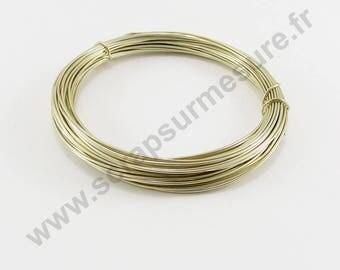 Ø 1 mm - Pearl - x 2 m aluminium wire