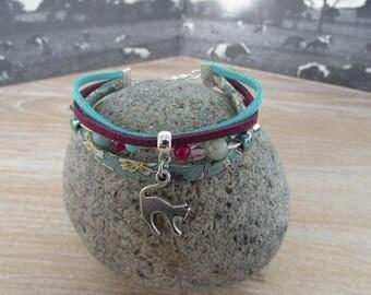 """Bracelet multi strand multi-material """"Big back"""""""