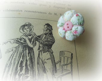 PUMPKIN RING MADE WITH MULTICOLORED FLOWERS LIBERTY FABRIC