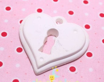Miniature plaster heart and its lock 56mm