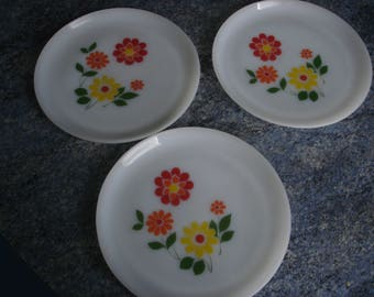 set of 3 plates PLATES ARCOPAL Vintage
