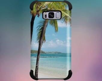 Samsung Galaxy Beach Palm Trees Protective Phone Case