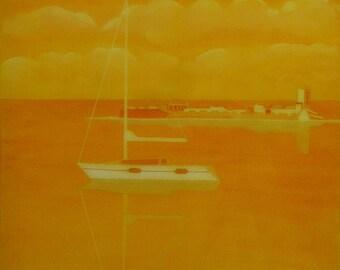 The Petri Sancti island and the sailboat in Orange