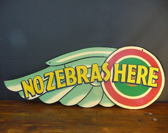 Fairground sign hand painted wooden vintage salvage