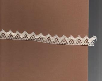 2cm wide ecru cotton lace