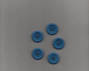 25 buttons four round blue holes (stranded 806) o 2.70 cm