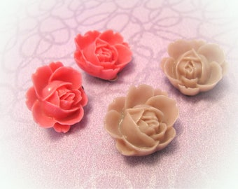 Kawaii clip-on earrings/Harajuku clip on earrings/flower clip-on earrings/flower earrings/2 pairs set/2 pairs earrings/under 10 gift