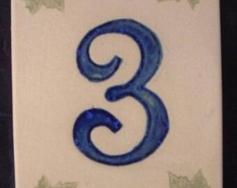 Door number '3' leaves