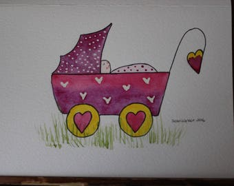 Water color baby shower/gift cards