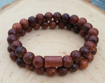 Palm Wood Beaded Bracelet/Women's Bracelet/Mala/Buddha Beaded Bracelet