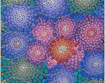 Dot Painting Print (14x14inch)