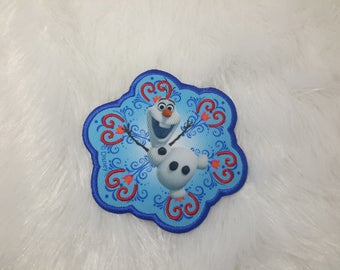 patch applique iron-on or sew snowman