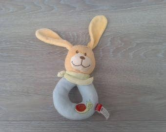 Stuffed plush rattle for baby