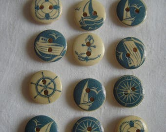 12 buttons sea boat / / 15 mm