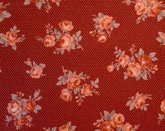 Coupon 55 x 100 cm patchwork fabric brand Lecien Mrs March's collection