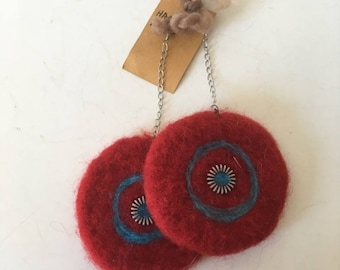 Big & bold felt earrings