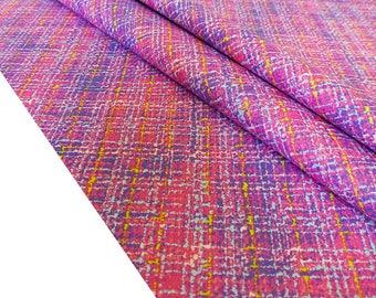 Fabric style Tweed fabric Pink Plaid, fabric Japanese yuwa fabric from Japan 50 x 50 TU113