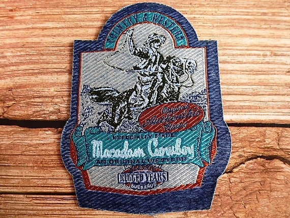 Applique patch badge macadam country cowboy and western rider