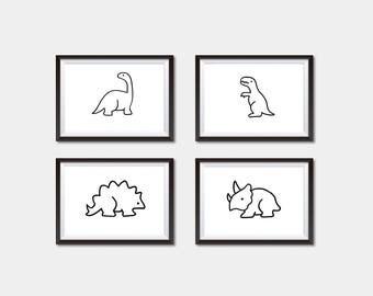 Dinosaurs, dinosaur,boy nursery, modern baby nursery, baby nursery, modern printable, black and white art, baby wall art, nursery wall art,