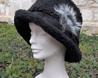 black sheep hat and fur