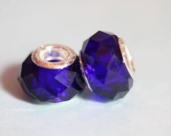 ❥ Perle Charm Blue Crystal and sterling silver 925