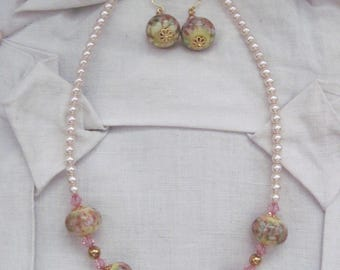 Necklace short NECKLACE + EARRINGS - reserved-