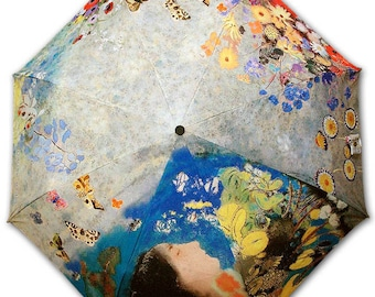 Foldable umbrella - painter ODILON REDON - Ophelia