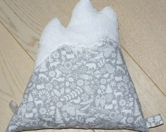 Mountain lace winter velvet cushion