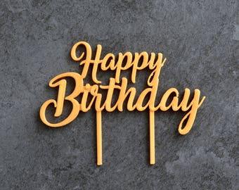 Happy Birthday - Cake Topper Happy Birthday cake decoration