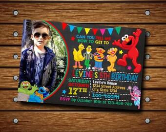 Sesame Street Invitation,Sesame Street Birthday Invitation,Sesame Street Party,Sesame Street Invite,Sesame Street Birthday,Sesame Street