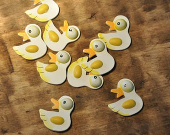 Wood - duck - set of 10 subjects decorations