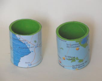 napkin ring map of southern France